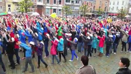 Flashmob du bicentenaire de l'école St Begge