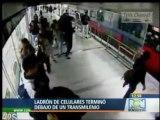 Voleur de téléphone se fait punir par un autobus