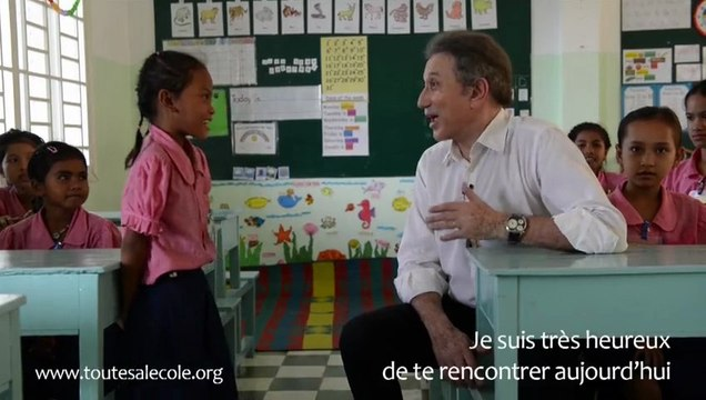 Michel Drucker chez Toutes à l'école