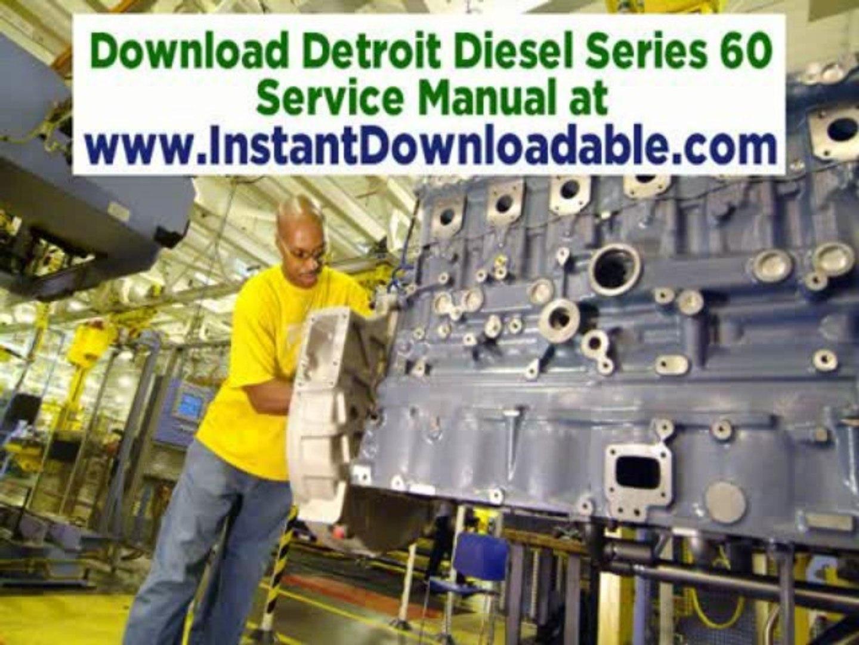 Detroit Diesel Series 60 Service Repair Manual Download