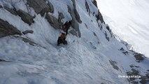 Claire Chazal Pointe Farrar Arête des Grands Montets Chamonix Mont-Blanc massif