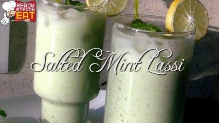 Mint Lassi Recipe - Mint Flavoured Yogurt Drink - Summer Recipe