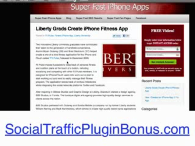 """ Social Traffic Plugin – Push Button Automated Traffic To Blogs! (view mobile)  