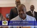 Gabon : rencontre du Président Ali Bongo Ondimba avec le Français Teddy Riner, champion de judo