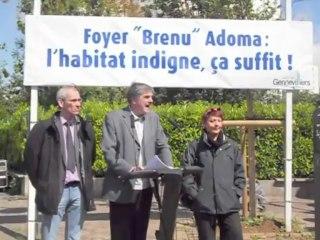 """Gennevilliers - Conférence presse Foyer """"Brenu"""" Adoma"""