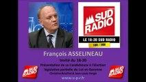 François ASSELINEAU sur Sud Radio - Candidature Législative partielle du Lot-et-Garonne 22-05-2013