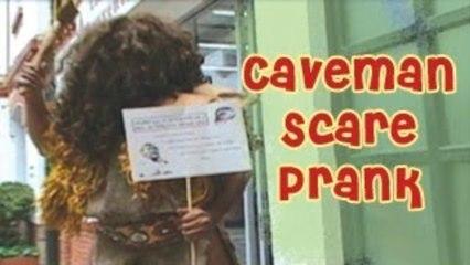 Prank - Caveman Scare Funny Prank _ Prank Attacks