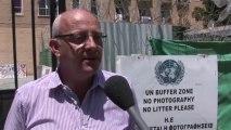 """Michel Bonnardeaux, porte-parole de l'ONU à Chypre : """"Il n'y a pas de risque pour la paix et la sécurité internationale"""""""