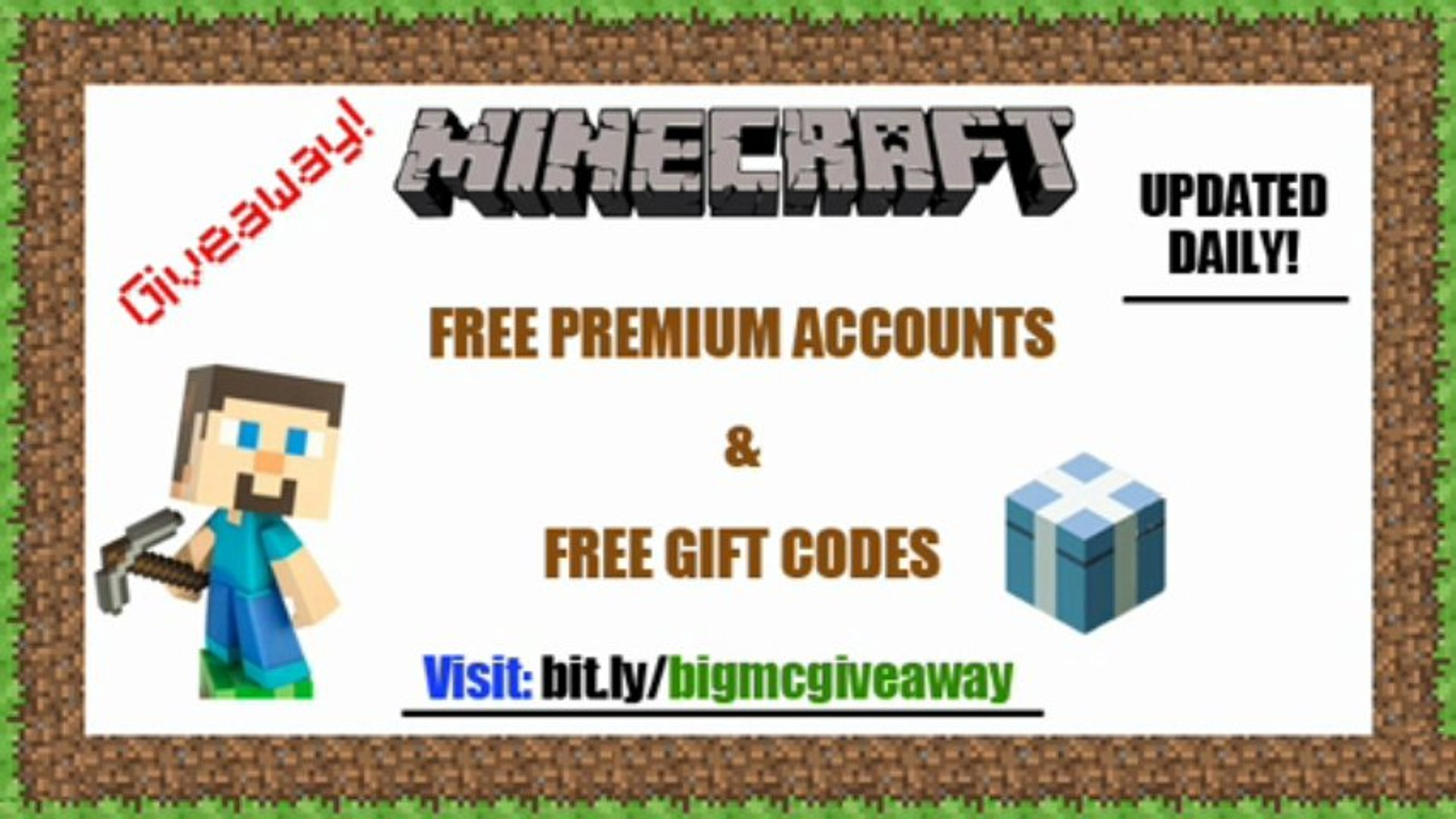 Minecraft Giveaway Daily Update 2013 Dailymotion Video