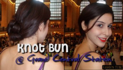 Knot bun/ Low bun hair tutorial - easy hairstyles for long hair