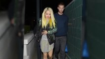 Rita Ora Shows Off Yellow Hair on Dinner Date With Calvin Harris