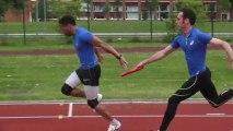 Un entraînement avec... le relais 4x100 m masculin !