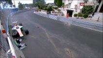 Formule 1 Monaco 2013 FP3 Sutil crash