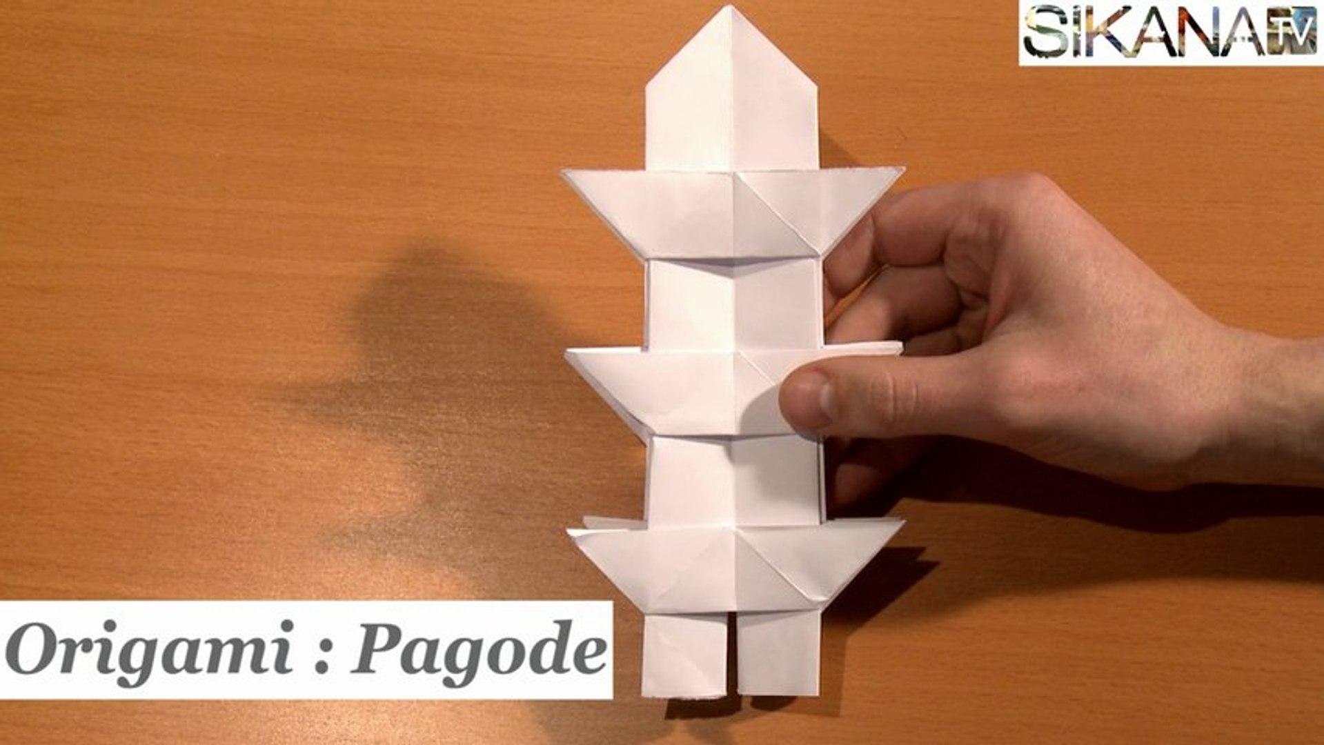 Origami traditionnel : La pagode en papier