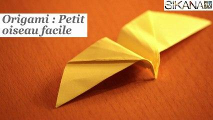 Origami Petit Oiseau En Papier Très Facile Sur Orange Vidéos