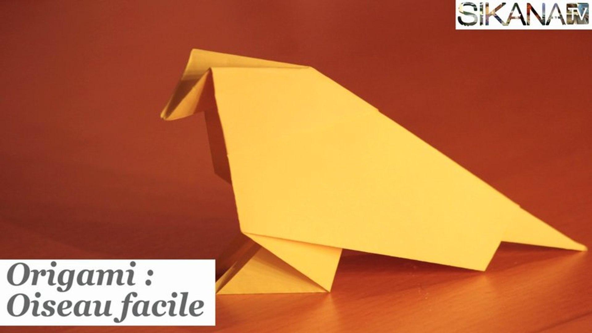 Origami Facile Oiseau En Papier Facile
