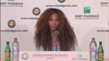 Roland-Garros - Serena : ''J'étais très nerveuse''