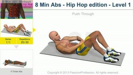 8 Mins abs workout –  Hip Hop Style