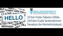 Arapça Seslendirme seslendirmeevi.com Reklam, Santral, Radyo, Tv Seslendirme ve Dublaj