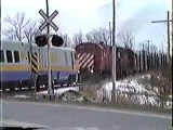 The train driver jumps before the train stops!! Crazy guy!!