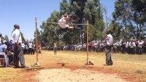 Saut en hauteur au Kenya