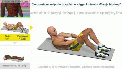 Ćwiczenie na mięśnie brzucha w ciągu 8 minut – Wersja hip-hop
