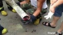 Un bébé coincé dans un tuyau d'évacuation en Chine
