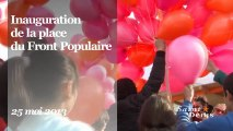 Inauguration de la place du Front Populaire