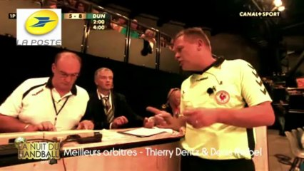 Nuit du Handball 2013 - Thierry Dentz et Denis Reibel élus binôme d'arbitres le plus apprécié