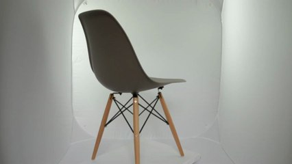 Chaise Eames DSW Taupe www.Editiondesign.fr