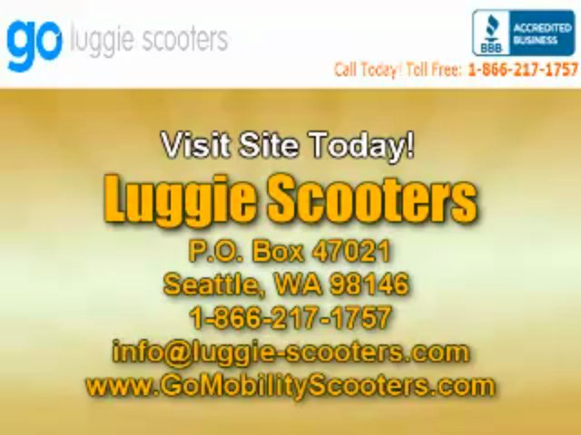 Folding Travel Scooter From Luggie Scooter