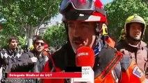 Cargas en la manifestación de bomberos de la Generalitat