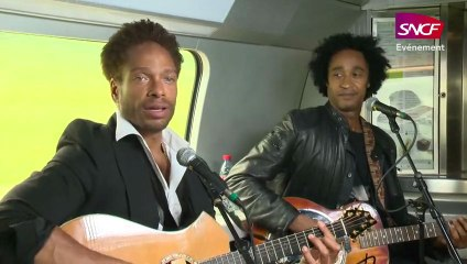 Showcase de Gary Dourdan et Darren Lee (Sugar Free Band) dans le TGV Marseille-Paris du 22 mai 2013