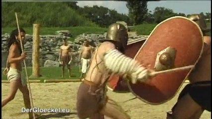 Gladiatorenschule im Amphitheater in Bad Deutsch-Altenburg
