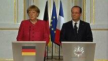 Conférence de presse avec Mme Angela MERKEL, chancelière de la République fédérale d'Allemagne