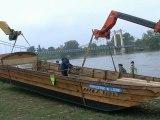 Princesse de Loire : la nouvelle gabarre cosnoise mise à l'eau