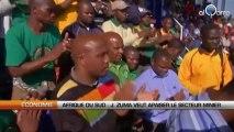 Afrique du Sud : J. Zuma veut apaiser le secteur minier