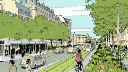 Un tramway à Paris