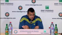 """Roland-Garros - Tsonga : """"Presque un autre sport"""""""