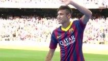 Les premières jongles de Neymar sous le maillot du Barça !