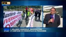 BFM STORY: F. Hollande à Marseille, inaugurations et campagne des municipales au programme - 04/06
