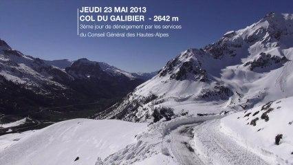 Déneigement du Col du Galibier (2 642 m) - Mai 2013