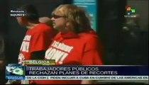 Sindicatos belgas protestan contra planes de recorte