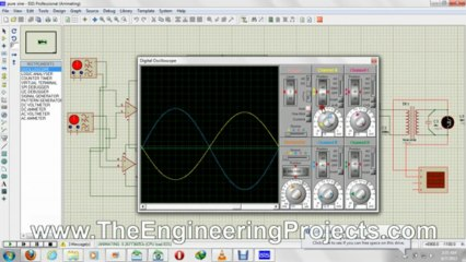 How To Use Oscilloscope in Proteus ISIS - The Engineering Projects