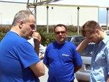 Teverola (CE) - La protesta dei lavoratori Indesit (06.06.13)
