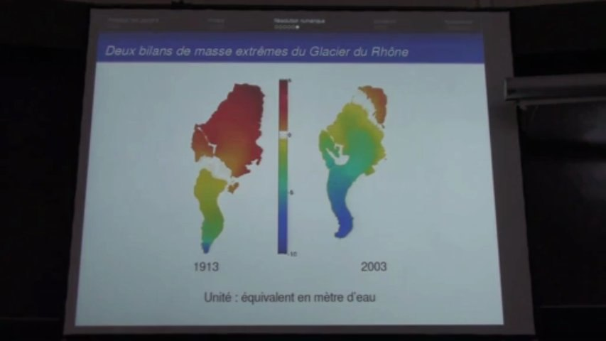 Modélisation et simulation du mouvement des glaciers, par Guillaume Jouvet