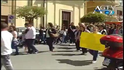 manifestazione di sensibilizzazione a ribera per l'ospedale e le case popolari news agtv