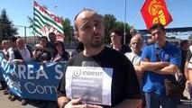Teverola - (CE) - Continua la protesta dei lavoratori Indesit (07.06.13)