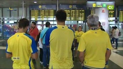 El equipo ya está en Gran Canaria y se concentrará - Vídeos de La afición de la UD Las Palmas