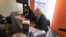 Signature accord-cadre entre le ministère et Total